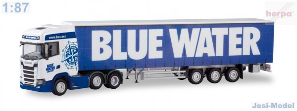 "Scania CS 20 HD s návěsem ""Blue Water""""310659""  (1:87)"