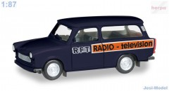 "Trabant 601 Universal ""RFT Television"" ""095167""  (1:87)"